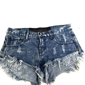 One Teaspoon Button Fly Distressed Jean Shorts 24